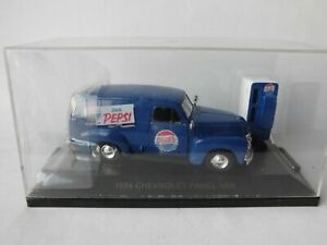 Road Champs USA - 1954 Chevy Panel Van with Pepsi Advertising + Refrigerator