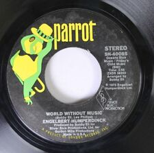 Pop 45 Engelbert Humperdinck - World Without Music / This Is What You Mean To Me