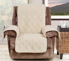 Sure Fit Chair Pet Cover Wide Wale Corduroy Cream Chair Cover with Strap