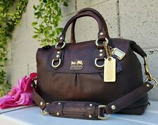 Coach 12937 Madison sabrina BROWN Leather purse Satchel handbag shoulder bag