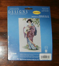 "Oriental Lady Designs for the Needle Cross Stitch Kit 10"" x 16"" Unopened Janlyn"
