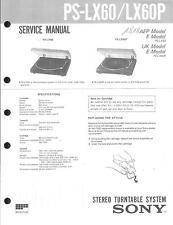 Sony Original Service Manual für PS-LX 60/P