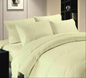 Ivory Solid Split Corner Bed Skirt Choose Drop Length US Size 800 Count