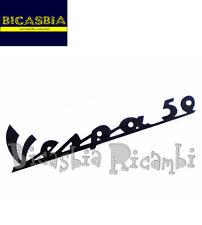 """0979 TARGHETTA ADESIVA NERA """" VESPA 50 """" 1963-1971 VESPA 50 SPECIAL R L N"""