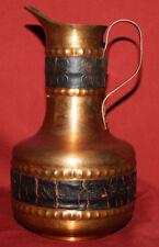 Vintage Hand Made Ornate Copper Pitcher Jug