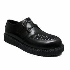 Nevermind Black Leather Haley Single Sole Creeper Shoes UK 9