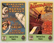 art.984-n.2 telephons cards, American Circus Poster.