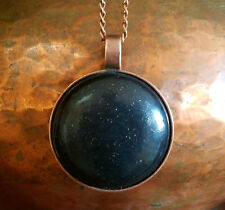 "Orgonite® Pendant 2"" Orgone Necklace Round Black Sun Circle Dome Energy Jewlery"