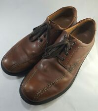 Mens Clarks Hommes Brown Leather Shoe US Size 10M