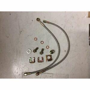 """GM 7/16"""" Braided Stainless Steel Brake Line Hose Kit Disc Brake Caliper Hoses"""