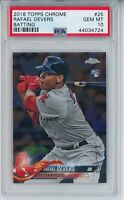 2018 TOPPS CHROME RAFAEL DEVERS ROOKIE RC PSA 10 GEM MINT #25 RED SOX 🔥📈