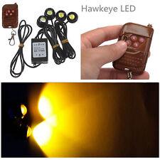 4in1 Kit Hawkeye LED Car Emergency Strobe Lights DRL Wireless Remote Control 12V