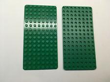 Lego 2 alte Grundplatte 8 x 16  Noppen grün