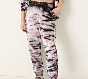 Victoria's Secret Pink NEW $47  Sz S Bamboo Tie Dye High Waist Campus Joggers