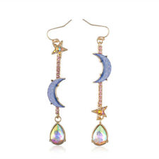 Vintage Beautiful Jewelry Blue moon&star earrings Woman jewel Fashion