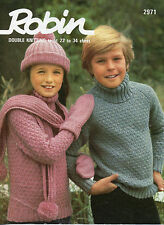~ 1970's Knitting Pattern For Child's Jumper, Hat, Scarf & Mitts ~