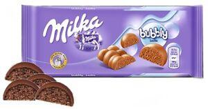 Milka Bubbly Alpine Milk Chocolate Bar PAST BEST BEFORE DATE