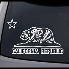 3 Pack California Republic Cali State Bear Permanent Vinyl Decal Bumper Sticker