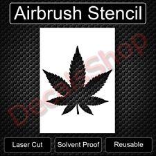 "Marijuana Leaf Reusable Airbrush Stencil Template Painting 11""x8.5"" Free Shippin"