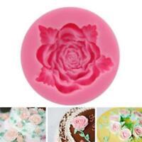 3D Silicone Rose Flower Fondant Cake Mold Chocolate Sugarcraft Mould New SL