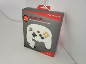 NEW White Admiral Premium Wireless BT Bluetooth controller for N64 Nintendo 64