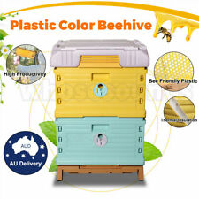 Plastic Beehive Frame Beekeeping Full Depth Bee Hive Langstroth Deep Black 20x