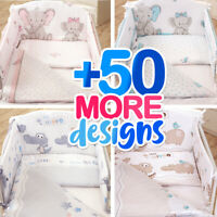 3 or 5 BABY BEDDING SET for Cot 120x60 or Cot Bed 140x70cm+50 MORE UNIQUE DESIGN