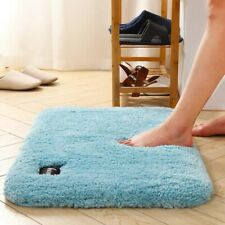 Bath Mat Ultra Soft Fluffy Absorbent Bathroom Rug Non-Slip Machine Washable Blue