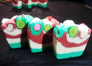 All Natural Hot Processed Homemade Peppermint Menthol Soap- shea Butter,coconut
