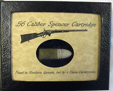 .56 Caliber Spencer Cartridge in Matted Display Case..Original Artifact with COA
