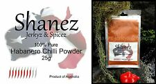 SHANEZ EXTRA HOT HABANERO CHILI CHILLI POWDER-25g Australian Made~Spices Herbs