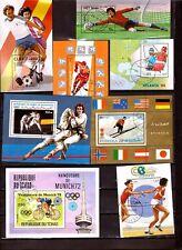 TOUS PAYS 8 blocs SPORTS:lutte football hockey athlétisme cyclisme boxe EP221/55