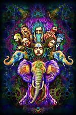 UV Backdrop Psytrance Festival Psydeco Psychedelic Wall Decor Spiritual