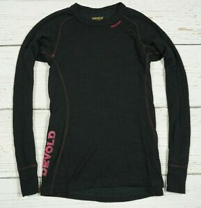 DEVOLD DUO ACTIVE MERINO WOOL THERMAL BASE LAYER SHIRT WOMAN THERMO COOL Size S
