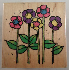 Emily'S Flowers 1997 459-E Embossing Arts Co  Garden  Wooden Rubber Stamp