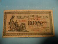 billete  2  pesetas   del consejo de asturias y leon