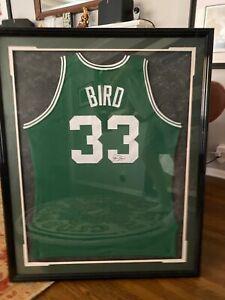Larry Bird Signed Boston Celtics Jersey Upper Deck Authenticated FRAMED