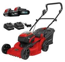 MATRIX 2x20V 40V X-ONE Cordless 370mm Brushless Lawn Mower Kit Push Lithium