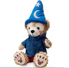 "NEW Disney Parks 2016 Duffy Bear 12"" Plush Doll with Sorcerer Mickey Hat"