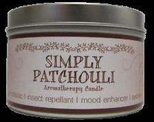 Simply Patchouli Aromatherapy Candle SOY & ESSENTIAL OILS scent NEW no dye