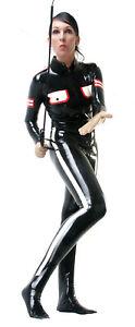 Latexanzug Military Uniform Latex 0,4mm rubber Catsuit Ganzkörperanzug Herren Da