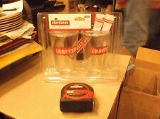 Craftman bundle lot of 25 ft. Tape, 1 Pint glass set of 2 glass's & Coaster's