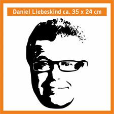 DANIEL LIEBESKIND Wandtatoo, ca. 35 x 24 cm, Hochleistungsfolie m. Montagepapier