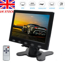 "7"" Touchbutton Screen Display CCTV Car POS DVR Monitor AV/HDMI/VGA w/Speaker UK"