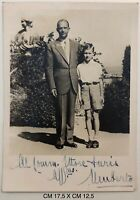 Umberto II° Savoia ultimo RE d'Italia fotografia con dedica autografa 1948 circa