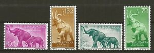 Spanish Guinea 1957 Wildlife Fauna Tiere Dieren Animals Elephant compl. set MNH