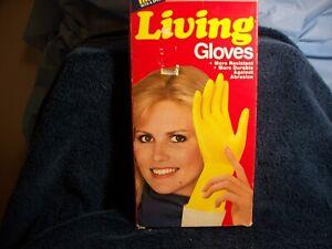 Playtex Living Gloves circa 1981 size small yellow