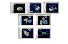NIC8709 The first earth satellites 7 items MNH NICARAGUA 1987