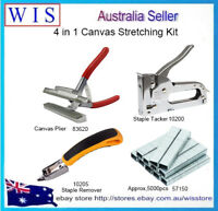 4/PK Canvas Stretching Kit,Canvas Plier & Tacker & Staple Remover & 5000 staples
