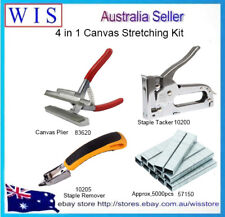 4 in 1 Canvas Stretching Kit,Canvas Plier & Tacker & Staple Remover &5000 staple
